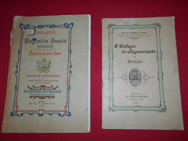 9 livros RAROS e ANTIGOS versando sobretudo sobre a cidade de Braga.