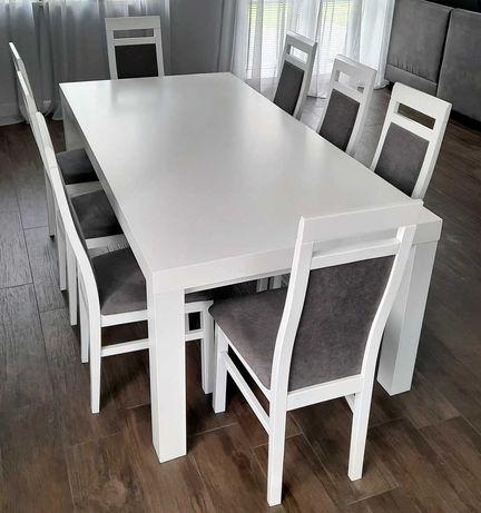 SPRZEDAM stół drewniany 100x200 biały do jadalni