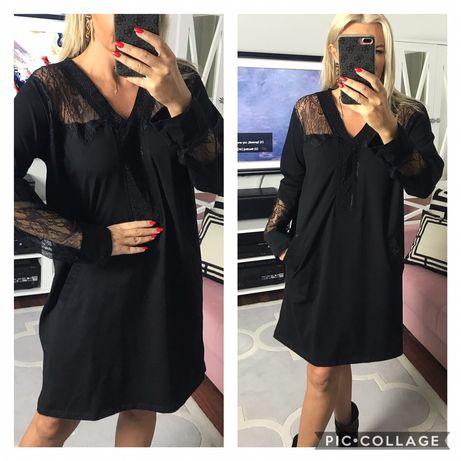 Elegancka sukienka z koronka , bawełna 44,46   Szer pachy 58 x