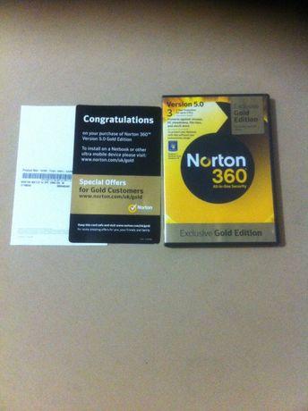 Диск CD / DVD. NORTON 360. Оригинал. Exclusive Gold Edition.