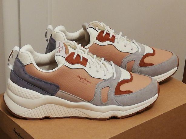 Sneakersy PEPE Jeans Harlow Colors Powder Pink r. 39 nowe