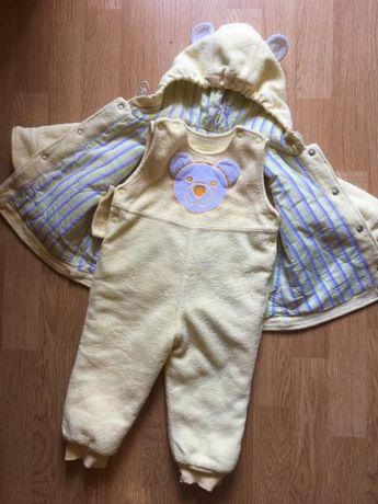 Деми костюм на синтепоне, куртка и комбинезон для ребенка Бемби, р.74