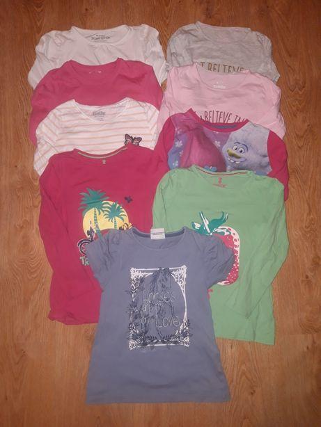 Bluzki z długim rękawem dla dziewczynki plus gratis, rozm. 110/116