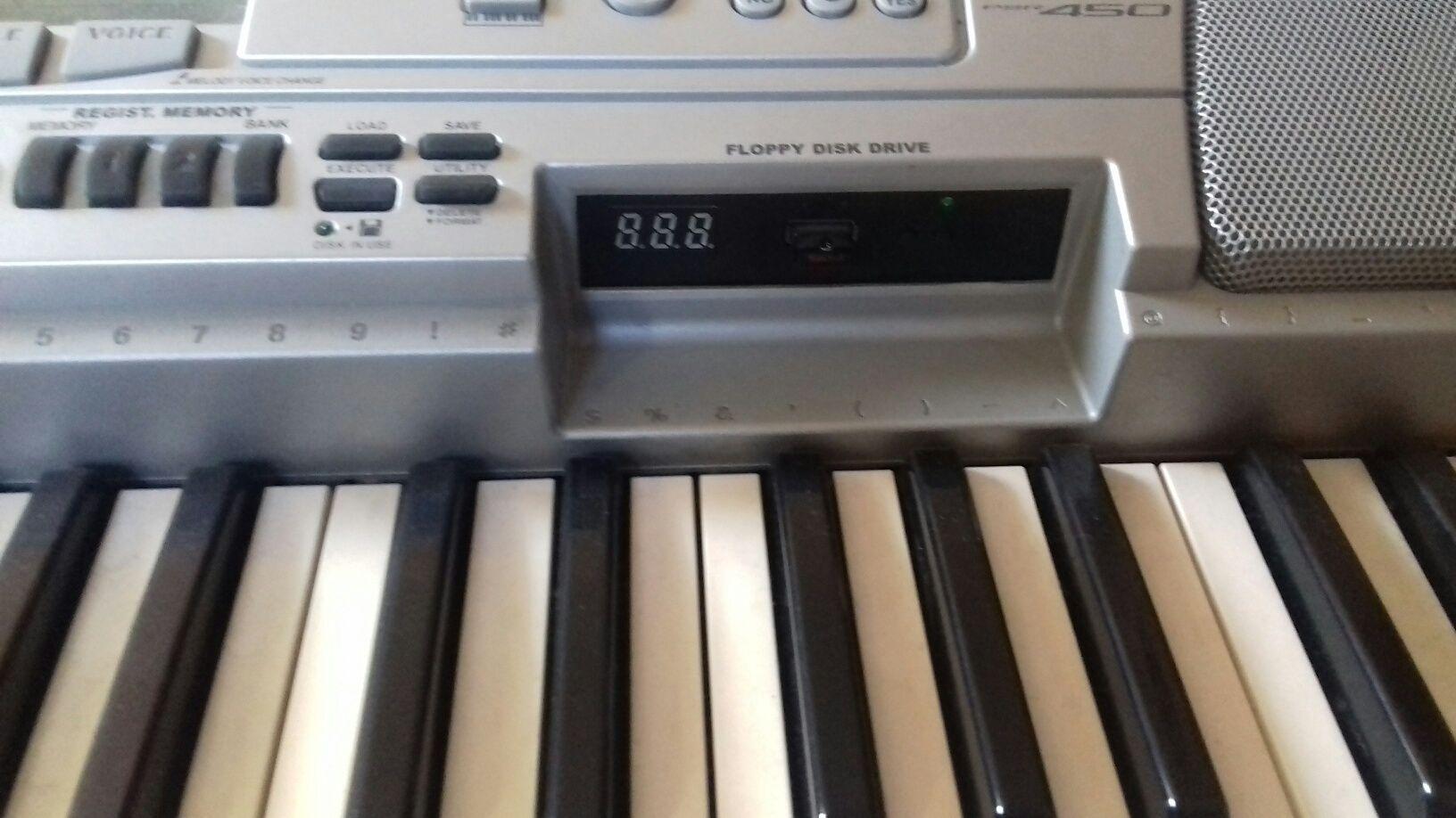 Yamaha psr 450 z emulatorem USB zamiana