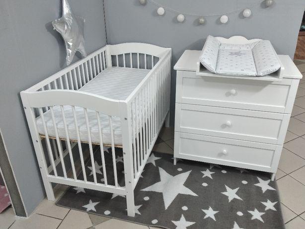 Zestaw łóżeczko niemowlęce i komoda z przewijakiem (R+O)