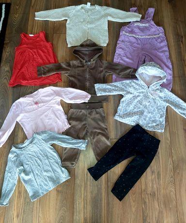 Paczka ubrań dla dziewczynki 86 perełki Zara H&M Carter's