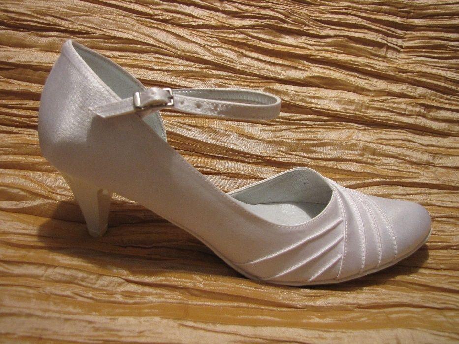 buty ślubne białe rozmiar 38, 40 Łódź - image 1
