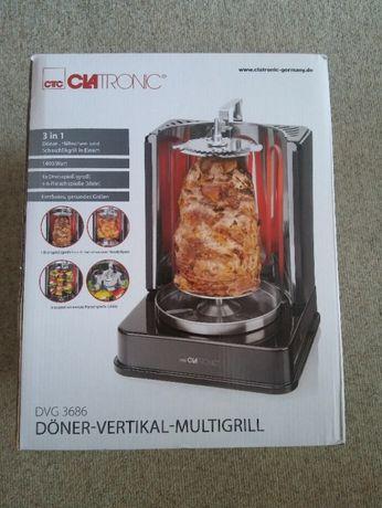Clatronic Pionowy multigrill kebabowy. Nowy oryginalnie zapakowany