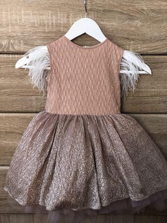 Плаття з пір'ям