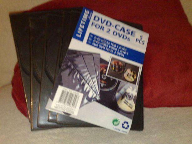 Pudełka na DVD, CD podwójne komplet 5 sztuk/ 2 komplety