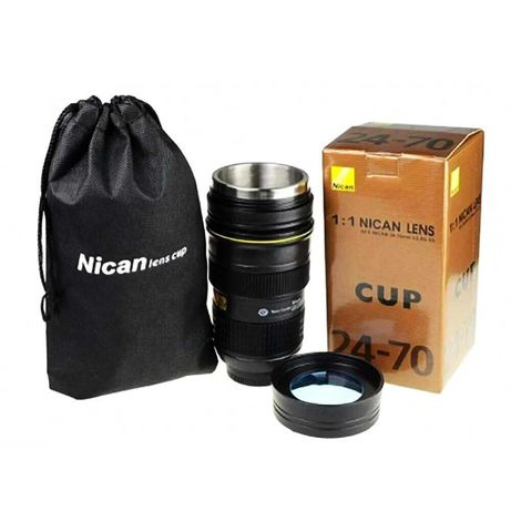 Кружка термос объектив Nikon 24-70 mm термо чашка, термокружка