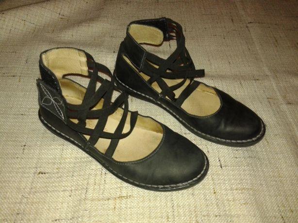 pantofle skórzane damskie 38