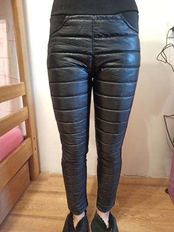 Утепленные штаны р. М с плащевкой на флисе