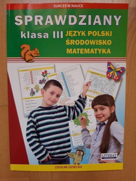 """Książka ćwiczeń do szkoły """"Sprawdziany dla klas III"""""""