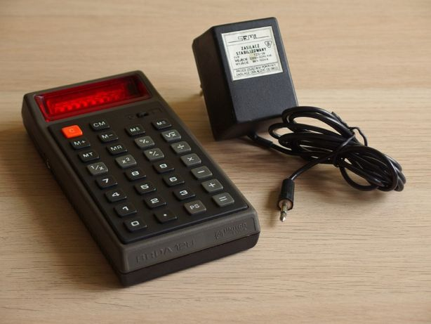 Kalkulator PRL Unitra ELTRA Brda 12U zasilacz SEMA 9V toral cemi