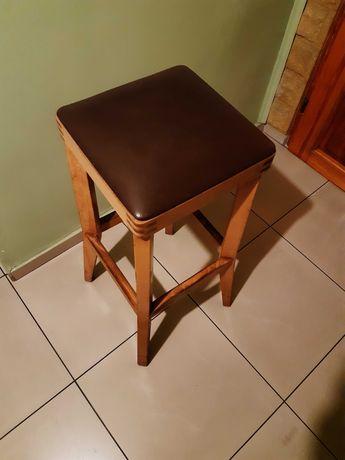 Hokery drewniane krzesła barowe 4 sztuki