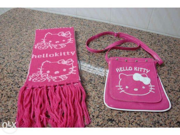 cachecol + carteira hello kitty