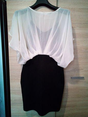 Sukienka elegancka czarno biała 36