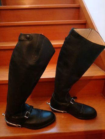 Botas de equitação Fouganza em couro