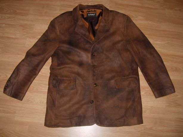 Куртка нат кожа, пиджак 54-56 разм