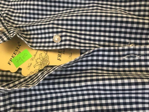 Piękna włoska koszula kratka vichy L 40