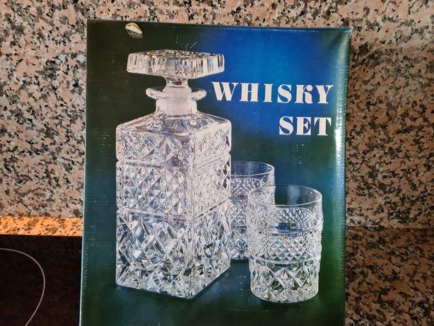Conjunto whiskey cristal bohemia