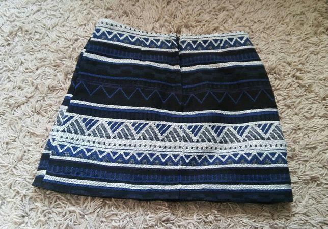spódnica jesień zima elegancka wzory azteckie M