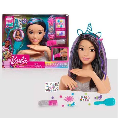Голова манекен Барби для причесок  Barbie Deluxe Styling Head