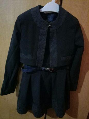 Школьная форма сарафан с пиджаком