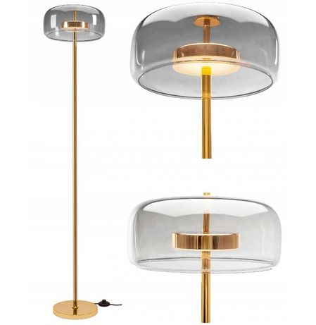 LAMPA STOJĄCA Podłogowa ZŁOTA Gold LED Nowoczesna NOWA
