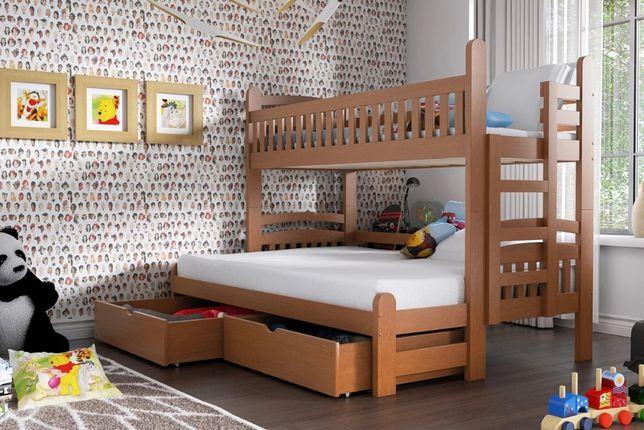 Łóżko piętrowe Ania Maxi 90 x 200 Certyfikat - Meble Bogart1