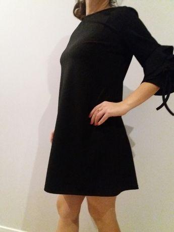 Czarna sukienka ciążowa roz.uniwersalny jak nowa