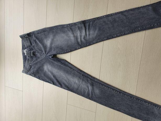 Spodnie legginsy jeansowe HM