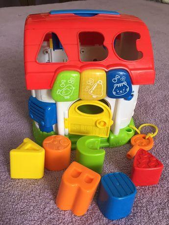 Розвивающая игрушка логика бизикубик домик