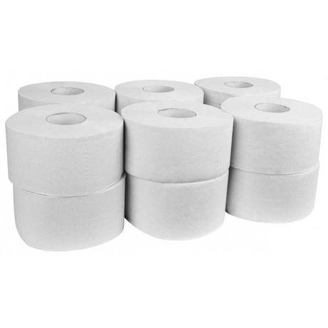 Papier toaletwy JUMBO 75% 2W biały 12szt DUŻY