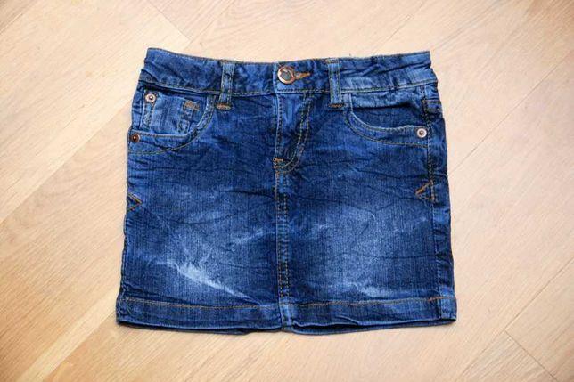 Jeansowa spódniczka mini Reserved r. 116 granatowy jeans dżins