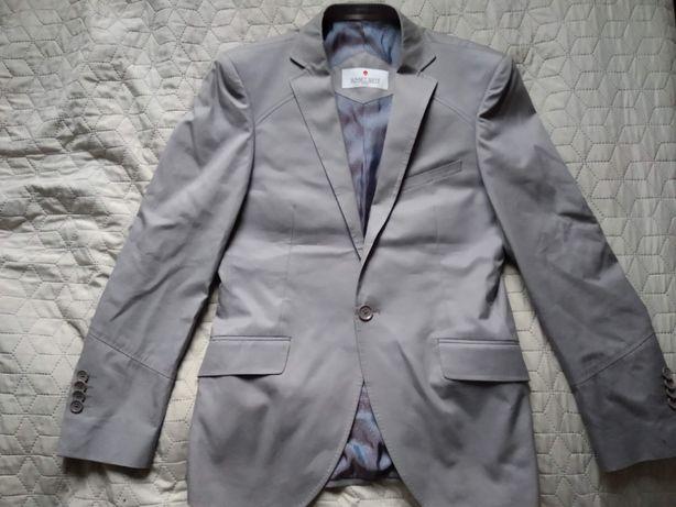 Szara, bawełniana marynarka męska Sunset Suits, rozmiar M