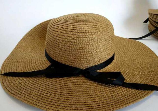 Соломенная шляпа с широкими полями 12см   Летняя пляжная