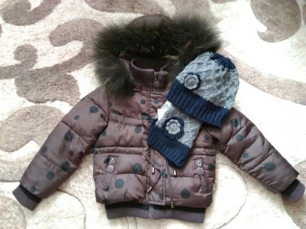 Куртка с натуральным мехом итальянская. To bee too.chicco,Wojcik,reima