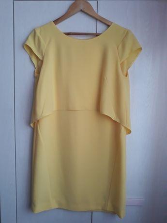Żółta sukienka, szyta na rozmiar M