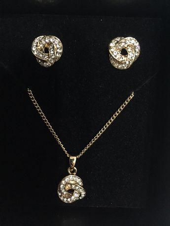 Naszyjnik/wisiorek i kolczyki NOWE biżuteria