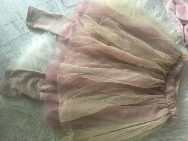 ZARA spódnica legginsy 116 tutu balet