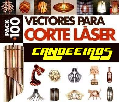 200 ficheiros vectoriais de candeeiros em 3d máquinas corte ou laser