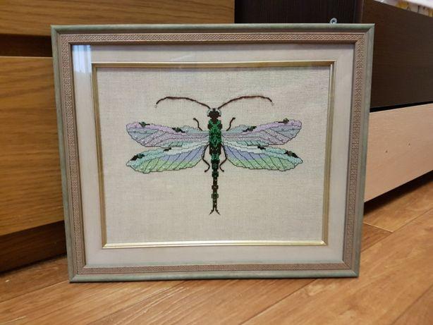схема Nora Corbett серебряная стрекоза Silver Dragonfly Нора Корбетт