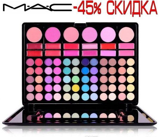 Тени Палитра теней MAC 78 цветов палетка для макияжа помады + тени +