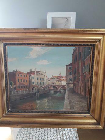 Stary obraz duńskiego malarza A. Krogh Petersena