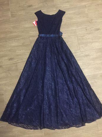 Шикарное платье в пол выпускное платье с биркой новое