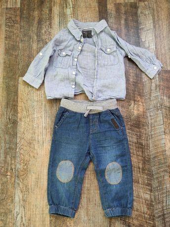 Джинси+рубашка 6-9м, до 74см