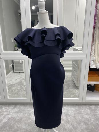Sukienka midi navy granat ciążowa True Violet