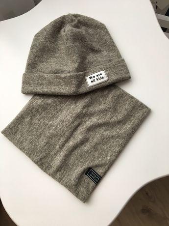 Комплект шапка +снуд 1-2 года